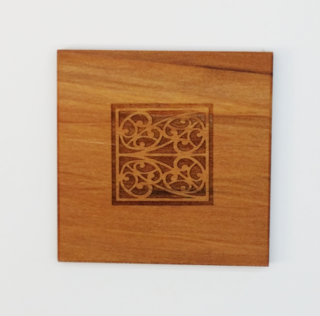 Bold Traditional Pattern Square Coaster