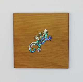 Gecko Square Coaster