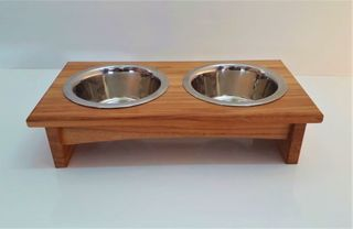 Double bowl cat feeder