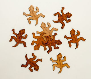 Tuatara Puzzle Coasters Set of 9