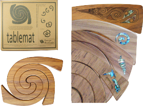 3 in 1 Tablemat with Paua Inlay