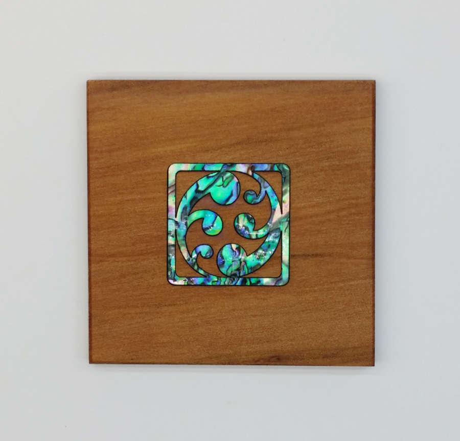 Unfurling Koru Square Coaster